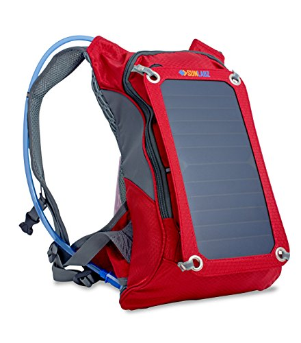 SunLabz Solar Charger Backpack (7w) Premium Bag with Solar Panel and 1.8L Hydration Pack