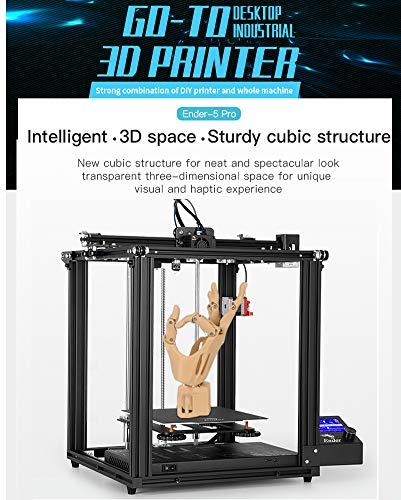 2019 Ender 5 Pro 3D Actualización de impresora V1.15 placa base silenciosa con marco extrusor de metal uso Capricorn Bowden PTFE tubo 220 x 220 x 300 mm construir volumen