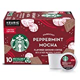 Starbucks Flavored K-Cup Coffee Pods — Peppermint Mocha for Keurig Brewers — 1 box (10 pods)
