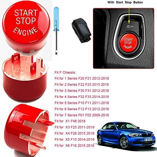 CRS Start Stop Botón Botón Rojo Cubierta Tuning para BMW