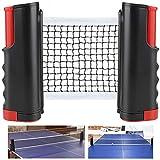 Rete da Ping Pong, Regolabile Accessori da Ping-Pong Portatile e Estraibile Rete da Tavolo...