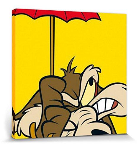 1art1 Looney Tunes - Willi Kojote Bilder Leinwand-Bild Auf Keilrahmen | XXL-Wandbild Poster Kunstdruck Als Leinwandbild 40 x 40 cm