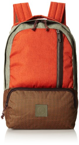 Volcom Basis Poly Backpack - Bolso mochila para hombre, color auburn, talla 18 litres
