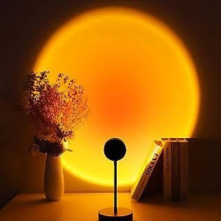 Speclux - Lámpara de puesta de sol, proyector de puesta de sol, 4 W, luz nocturna, luz romántica y visual ambiental, luz U...