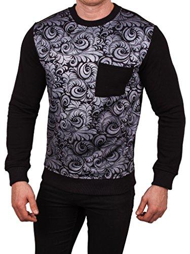 Cabanelli - Sweat-shirt à capuche - Vintage - Homme - Noir - Large