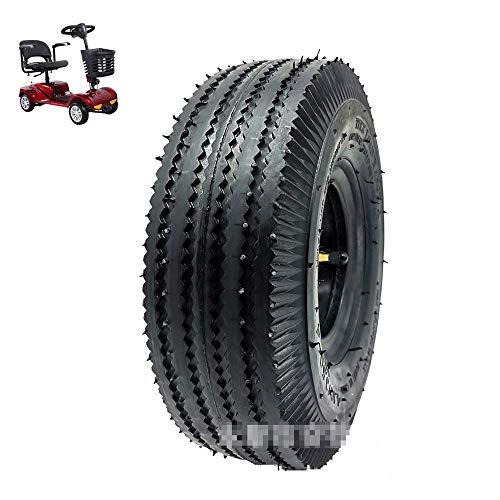Neumáticos de Scooter eléctrico, neumáticos 4.10/3.50-4 súper Resistentes al Desgaste, Fuerte Rendimiento Antideslizante y de Drenaje, neumáticos de Doble Uso para Carretera y Todoterreno