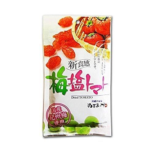 梅塩トマト 120g×6P 沖縄美健 沖縄のミネラルたっぷり塩・ぬちまーすと紀州梅を使用した天然塩まぶしドライトマト 夏バテ防止 熱中症対策に