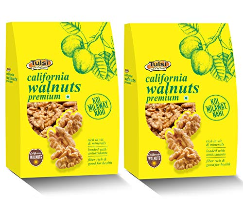 Tulsi California Walnuts Kernels Premium Vacuum Pack 400gm (200gm x 2)