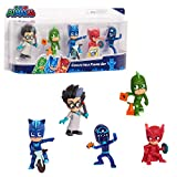 PJ Masks Collectible 5-Piece Figure Set,Catboy, Owlette, Gekko, Romeo, and Night Ninja by Just Play