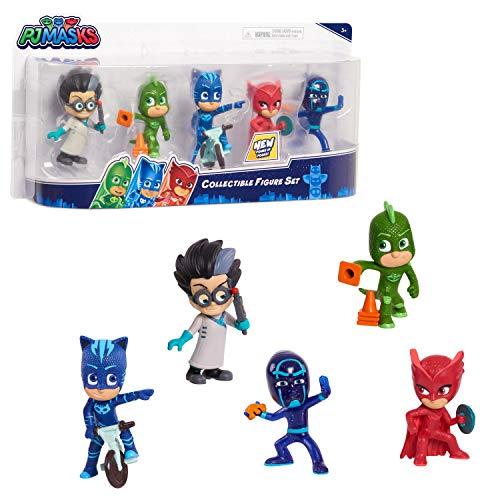 パジャマスク 人形 ミニ フィギュア 5体 セット 子供 おもちゃ ギフト プレゼント