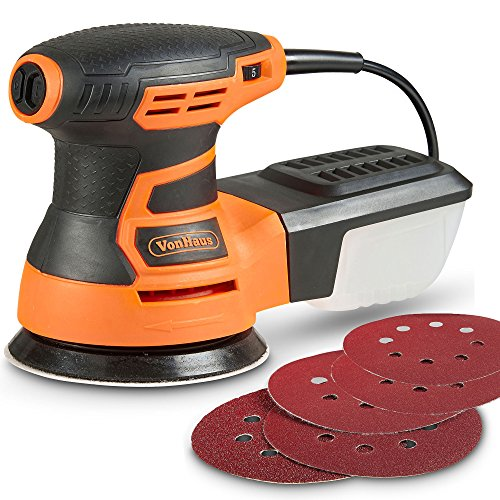 VonHaus 13000 RPM Random Orbit Sander for Trim Work