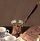 The Turkish Emporium Ottoman Essential Copperware Pentolino da caffè Turco Ibrik o Cezve Manico in Legno