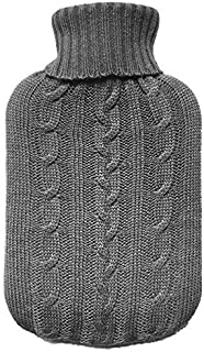 Knitted Cover for Hot Water Bottles Grey Knitted Insulator - by TRIXES