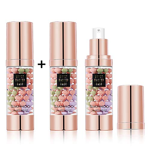 SIAMHOO One Step Face Primer Makeup Tricolor Tinted Moisturizer Skin Tone Correcting and Brightening Primer for Glowing and Flawless Makeup, 35ml