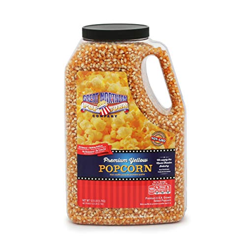 New 4195 Great Northern Popcorn Premium Yellow Gourmet Popcorn, 12 Pound Jug