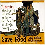 Red Cross Poster 1917 Nposter By The American Red Cross And The US Food Administration Encouraging Americans To Save Food And Featuring A Quote By John Greenleaf Whittier America The Hope Of All Who S