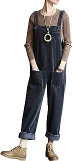 Bigassets Donna Senza Maniche Denim Salopette Tuta da Lavoro Tute Pantaloni Jeans