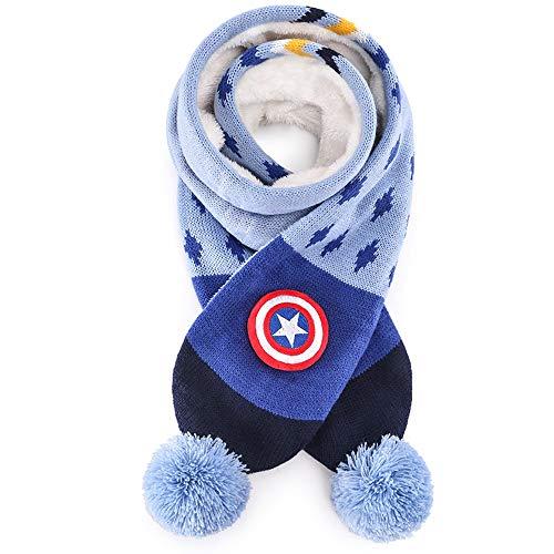 Xiao huang li sjaal sjaals kinderen sjaal - zachte acryl gebreide sjaals voor peuters kinderen ouder kinderen winter zachte voering dikke gebreide nek warme sjaal winddicht