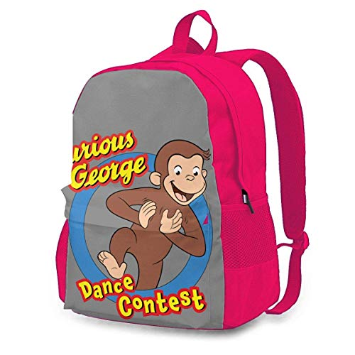 Lsjuee Curious George Youth Backpack Lightweight Multi-Function College School Bookbag