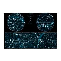 Ipea 星図スペーススカイマップキャンバスウォールアートポスター絵画写真寝室の装飾部屋の装飾リビングルームの装飾(19.69X27.56インチ)50X70Cmフレームなし