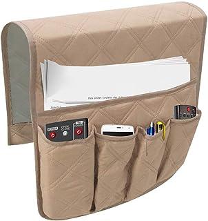 Leorealko 1 Pcs Sofa Armrest Organizer Bag Couch Chair TV Remote Control Magazine Waterproof Storage Bag