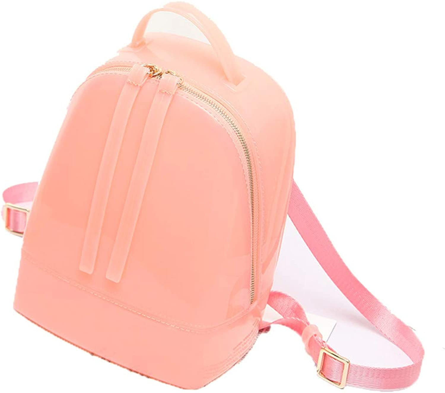 Silicone Backpack Female Travel Bags Girl School Bag Lady Waterproof Jelly Bag Pink Small