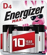 Energizer Max D Batteries, Premium Alkaline D Cell Batteries (4 Battery Count)