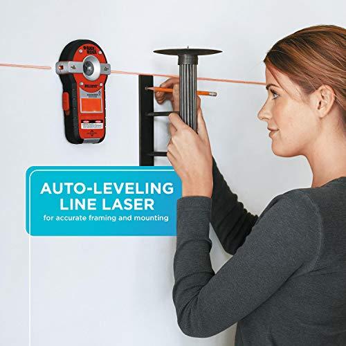 BLACK+DECKER Line Laser, Auto-leveling with Stud Finder (BDL190S)