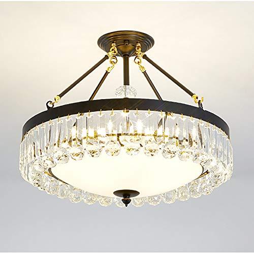GUHUIHE Lámpara de Cristal romántico, luz nórdica Luz de Lujo Decoración de la Familia Luz Colgante con Sombra de Cristal, Salones clásicos Aisle Balcón Balcón Lámpara Colgante Lámpara Luminaria