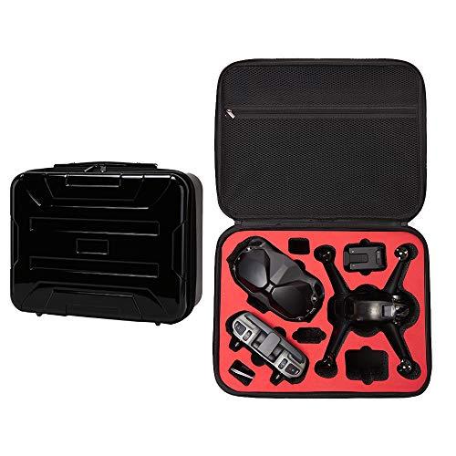 Linghuang - Bolsa de transporte portátil para drones DJI FPV, gafas de protección V2, mando a distancia 2, controlador de movimiento, batería y accesorios, carcasa impermeable (plateada)
