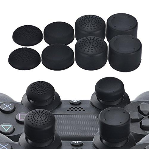 YoRHa Profesional Thumb Grips Thumbstick de los pulgares Cubierta del joystick (negro)...