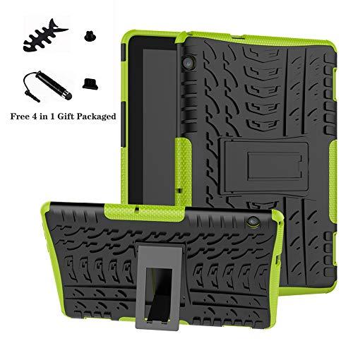MediaPad T5 10 Hülle,LiuShan Dual Layer Hybrid Handyhülle Drop Resistance Handys Schutz Hülle mit Ständer für 10.0