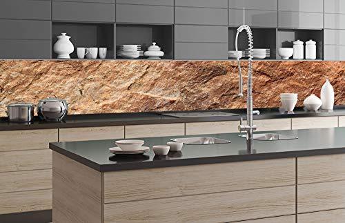 Zelfklevende keuken achterwand MARBLE 350 x 60 cm | Zelfklevende spatwand keukenfolie | Waterbestendige folie voor de keuken | PREMIUM KWALITEIT | Gemaakt in de EU