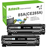 Aztech Compatible Toner Cartridge Replacement for HP 85A CE285A Toner Used for HP Laserjet Pro P1102W P1109w M1212nf M1217nfw P1100 M1210 Toner Cartridge Ink (Black, 2-Pack)