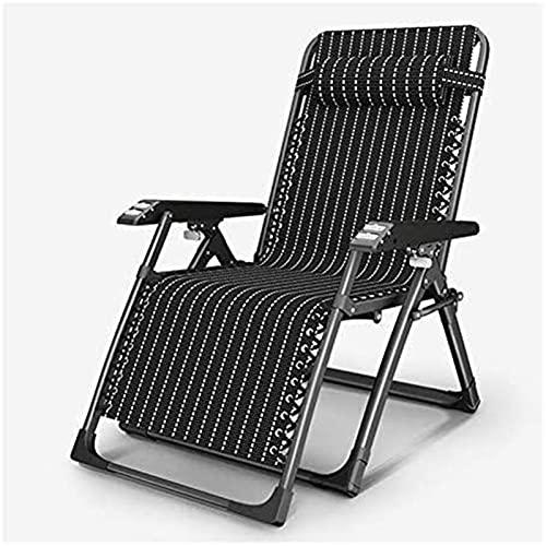 HCMNME Liegestuhl Garten Liegestühle und Liegestuhl Falten Einstellbare Sun Liegestuhl Sonnenliegen Liegestuhl für den Strand Pool Outdoor Patio Camping Füße Stahl Bold Square Tube