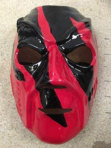 Wrestling Kane Debut Hell in A Cell - WWE Kostüm Maske - Halloween - Elastischer Band