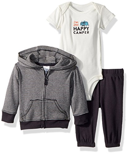 Carter's Baby Boys' 3 Pc Sets 126g286, Grey, 6 Months