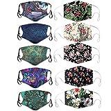 AOGOTO 10 Mädchen hochwertige Stoff Doppelschichtschutz staubdichte Handtuch Mode Gesundheits- und Sicherheitsschutz Handtuch im Freien