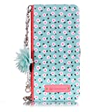 Misteem Custodia Fiore Colorate per Galaxy S9 Catena Pendente Cover - Flip Magnetica Antiu...