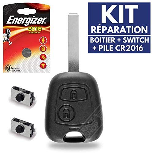 Carcasa llave Jongo caja para mando a distancia Citroen C1C2C3C4Picasso ✚ Switch ✚ pila CR2016Energizer
