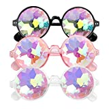 E-More 3er Kaleidoscope Goggles Weinlese-Art Gotische Retro Steampunk Cosplay Brille Glasses Welding...