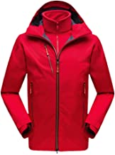 $79 » Men's Hooded Jacket Softshell Windproof Waterproof Climbing Mountain Ski Raincoat Snow Coat Windbreaker Zipper Pocket