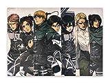 CoolChange Attack on Titan - Quadro da parete su piastra in schiuma rigida, 4 poster, 30 x 42 cm, motivo: AOT Season 4