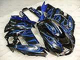 Fairing Kits for Zx14 Zx-14r 2006-2011 Motorcycle Fairing Zx14 Zx-14r 2006 Black Blue Flame Abs Fairing ZZR 1400 2009