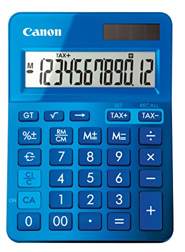 Canon LS-123K Desktop Basic Calculator, Metallic Blue