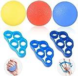 HEAWAA Fingertrainer Klettern Handtrainer Set, Hand Grip Trainer Strengthener Griffbälle und Finger Stretcher Silikon