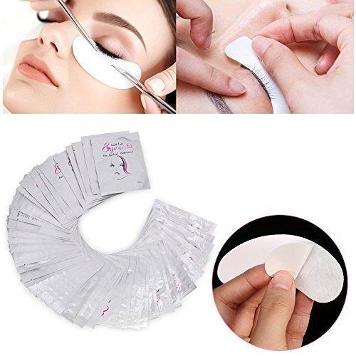 30 Paires Patchs Pour Extensions de Cils Gel, Gel Yeux Patchs Cils Pad Patch Oculaire Dédié Aux Cils pour Coloration Lash Extension Cils Outil de Maquillage de Beauté(Fille d'Argent)