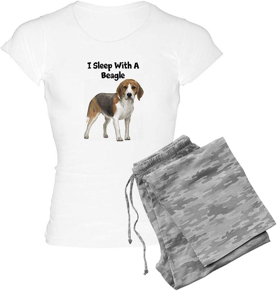 CafePress I Sleep with 登場大人気アイテム 正規逆輸入品 PJs Women's Beagle A