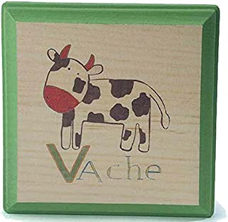 Tree by Kerri Lee French Farm Animal Wooden Plaque (Cow)