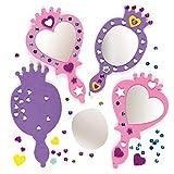 Baker Ross Prinzessin-Spiegel-Set - Schaumstoff - für Kinder zum Basteln - für Mottoparty und...